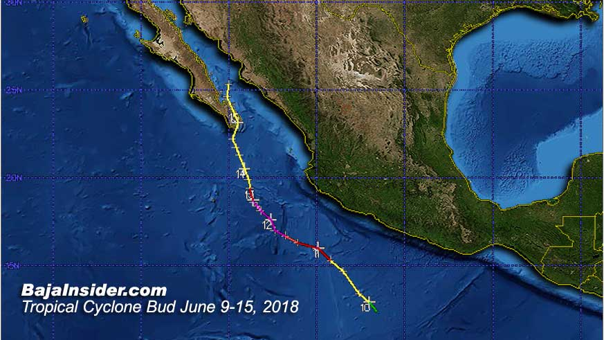 Tropical Storm Bud became the second earliest names system ever to make landfall on the Baja peninsula
