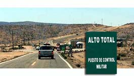 Military check points in Mexico