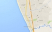 Map of Rosarito Beach, Baja California, Mexico