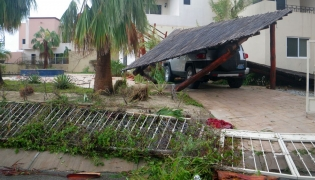 Carport down from Hurricane Odile