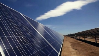 A few of the 131,800 Suntech solar panels at the La Paz Aura 1 Solar facility