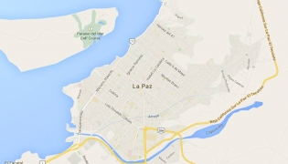 Map of La Paz, Baja California Sur, Mexico