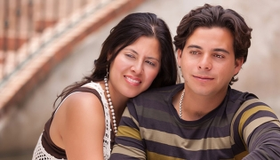 A young middle class Mexican couple