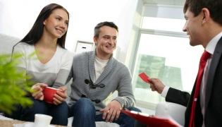 Real Estate Agent and confident buyers