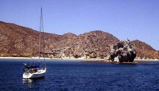 Bahia San Juanico on the Sea of Cortez