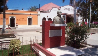 The Theatro in the zocolo of Todos Santos