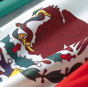 The flag of the United States of Mexico
