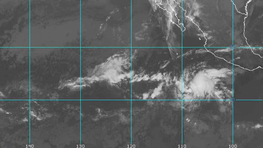 Eastern Pacific IR BW Satellite Image