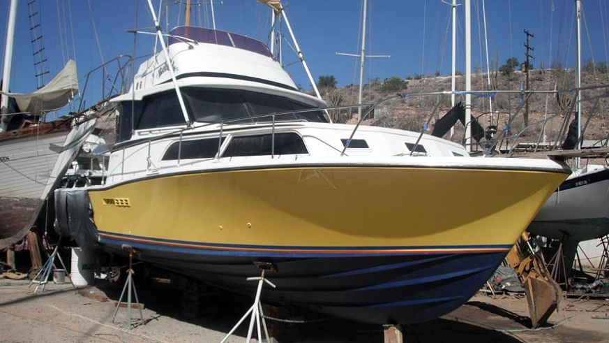 1986 Bertram 38' Sport Fisher Powered by twin Catepliiar 3208's with a new paint job this fishing machine is ready to go. $96,000USD