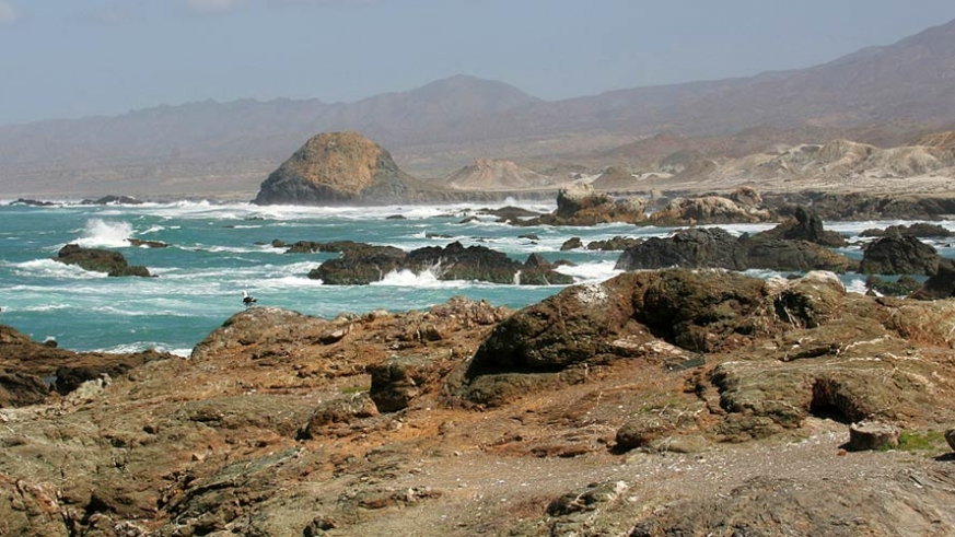 Rugged west coast of Isla Cedros in the Pacific