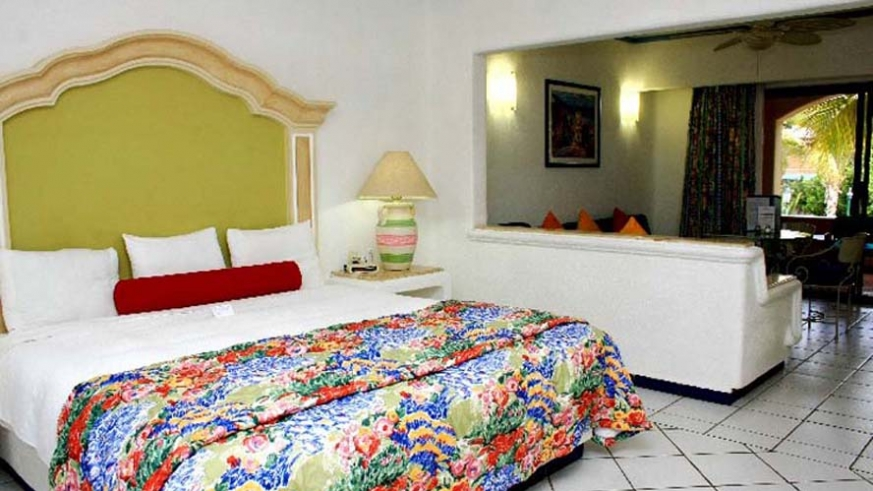 King sized accommodations at the Marina Fiesta Cabo San Lucas