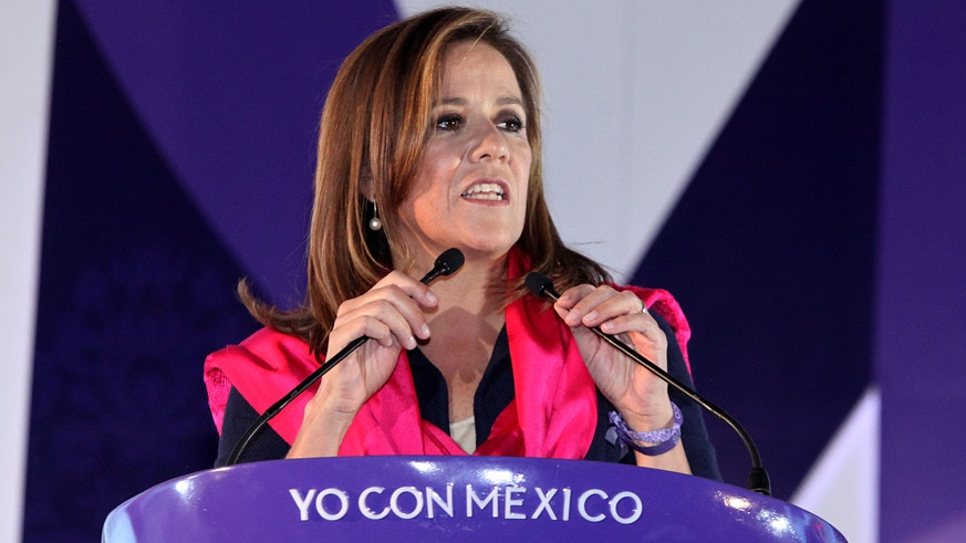 Margarita Zavala de Calderón, wife of former president Felipe Calderón left the PAN to run as an independent