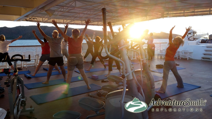 Yoga aboard the Safari Endevour  – AdventureSmith Explorations