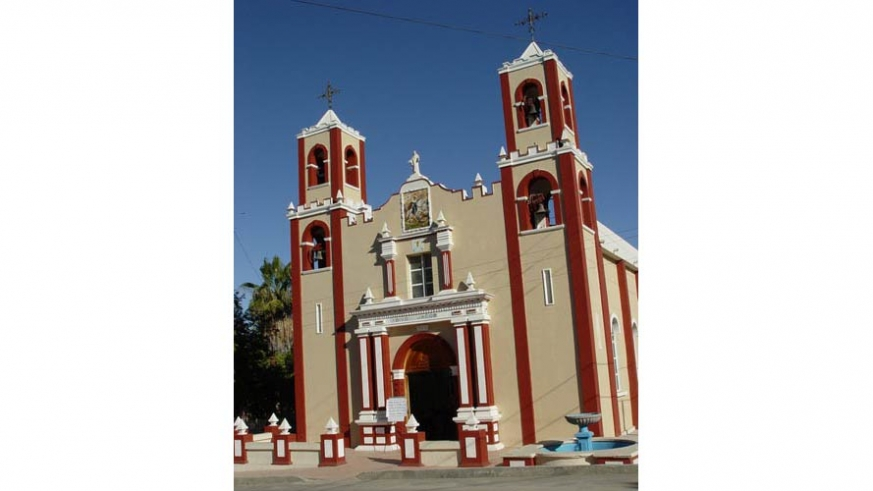 The church at Santiago, Baja California Sur