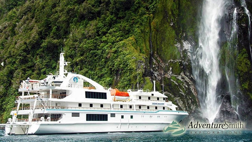 Cruise the exotic emerald green coast of New Zealand with AdventureSmith Explorations