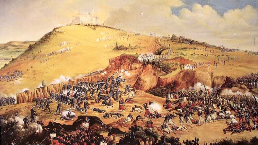 The Battle of Pueblo from a distance