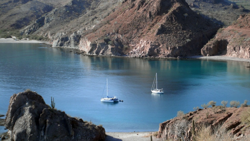 Agua Verde is a well sheltered and popular anchorage, just south of Loreto