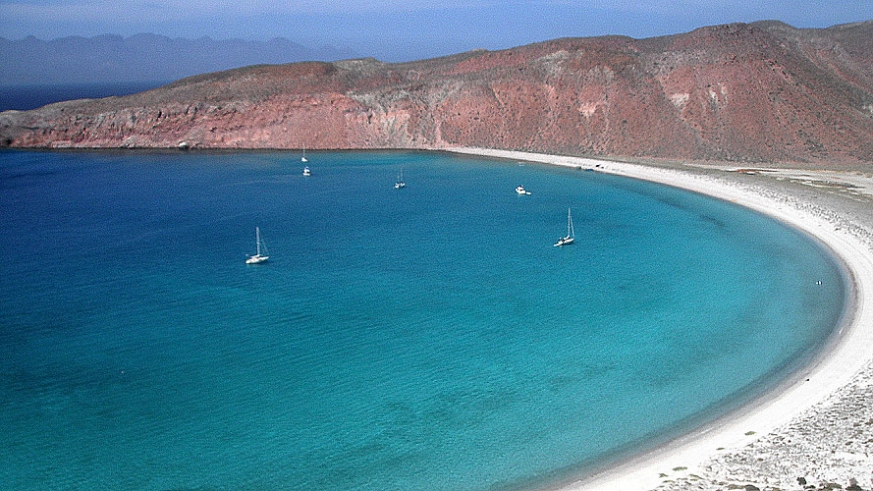 Isla San Francisco is about 80 miles north of La Paz and provides hiking from this spectacular anchorage.