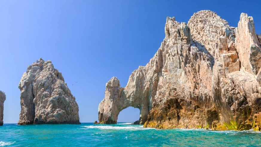 Lands end in Cabo San Lucas is the tip of the Baja California peninsula