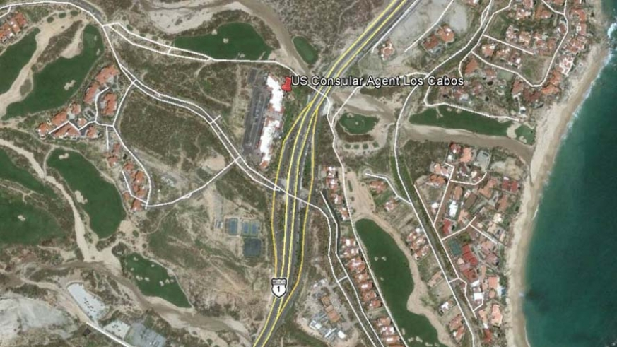 Location of the Consular Agency in Los Cabos