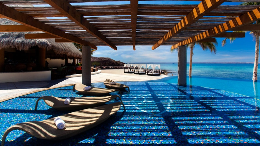 The CostaBaja Beach Club offers a stuning view of the Bay of La Paz anytime of day.