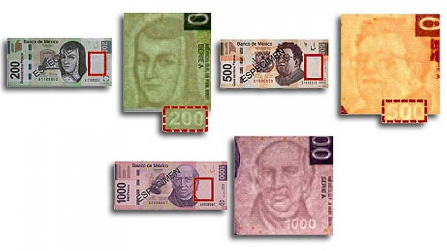 Identifying the security features of the Mexican Peso