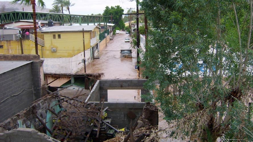 Mulege received more than 22 inches of rain in 36hrs during Tropical Storm Javier