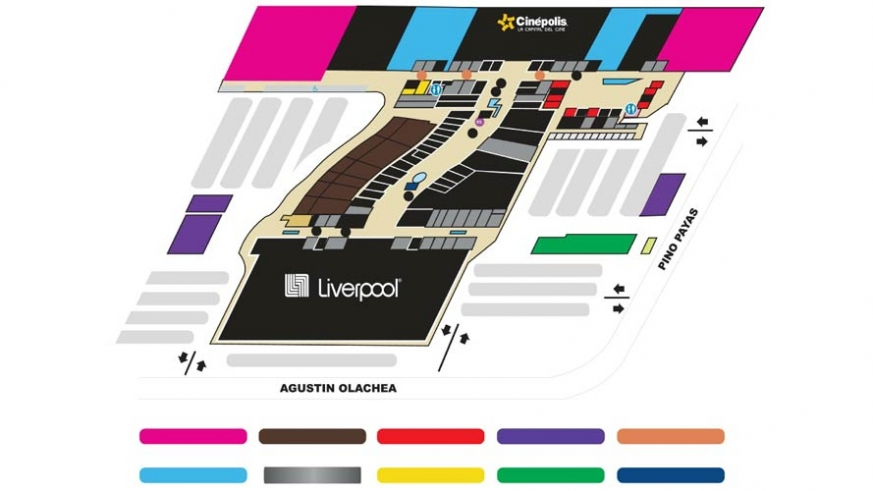 Map of the Shoppes at La Paz, many spaces remain empty as La Paz grows into all the new retail space