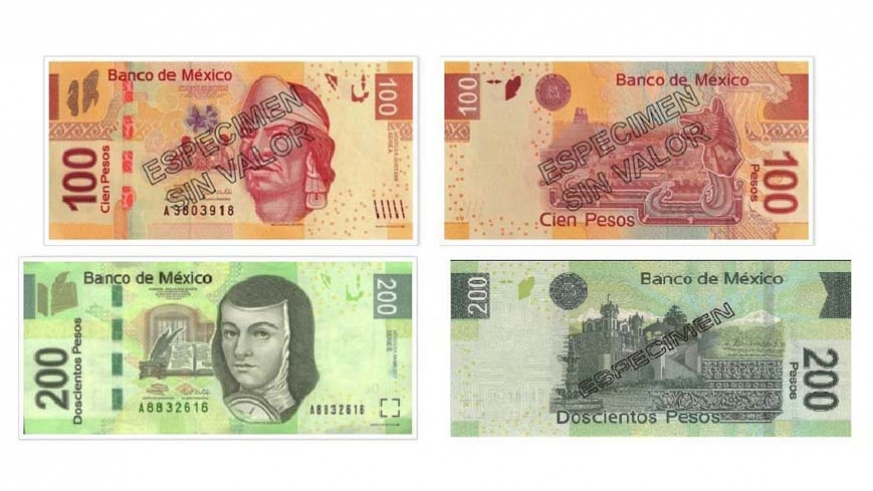 The 100 And 200 Mexican Peso Notes