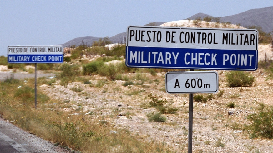 Military Checkpoint 600 meters ahead