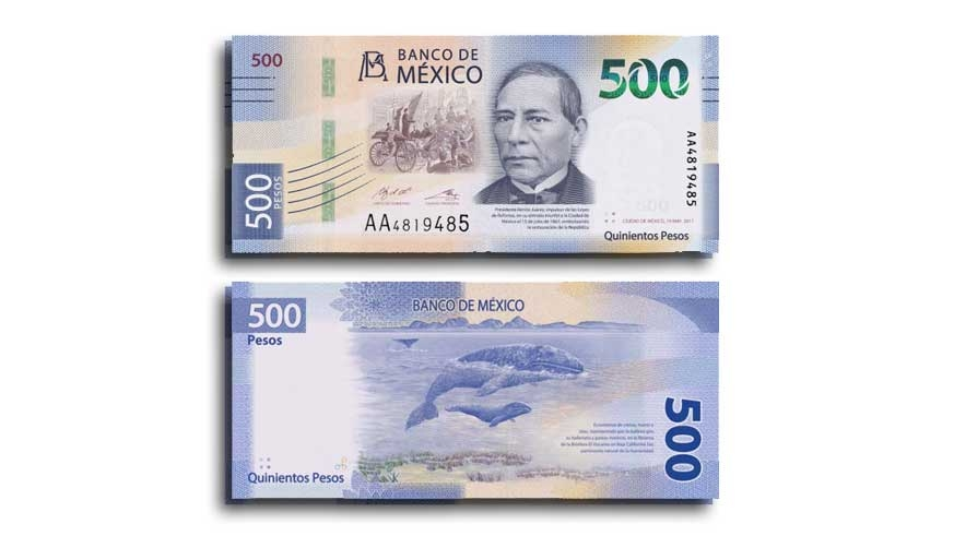The New 500 Peso Note Introduced August 27 2018 Will Be First In A