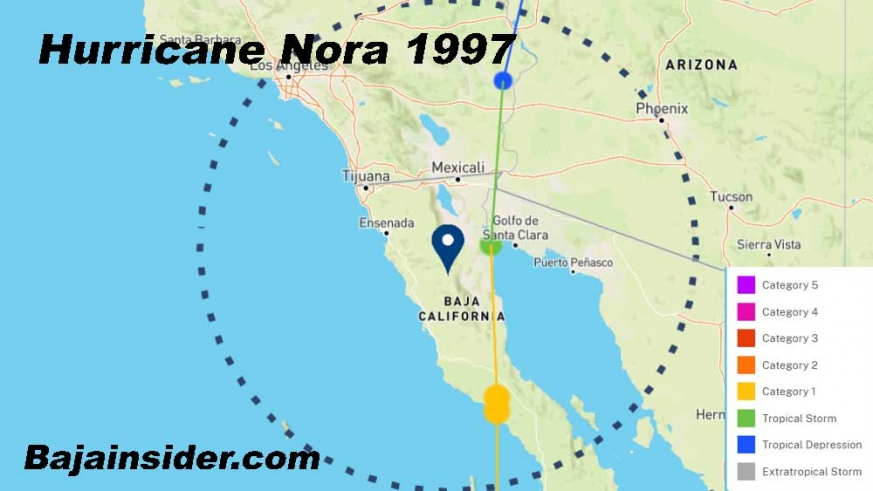 1967 Hurricane Nora is just one of two to maintain Category 1 in the northern state.