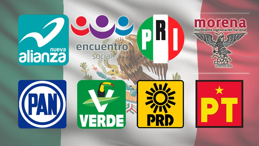 The major political parties in Mexico, by no means all of the political players.