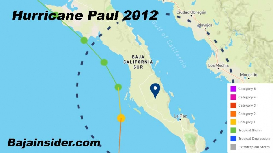 The latest in the season that a tropical cyclone has made landfall on the Baja was 2012's Hurricane Paul on October 17.