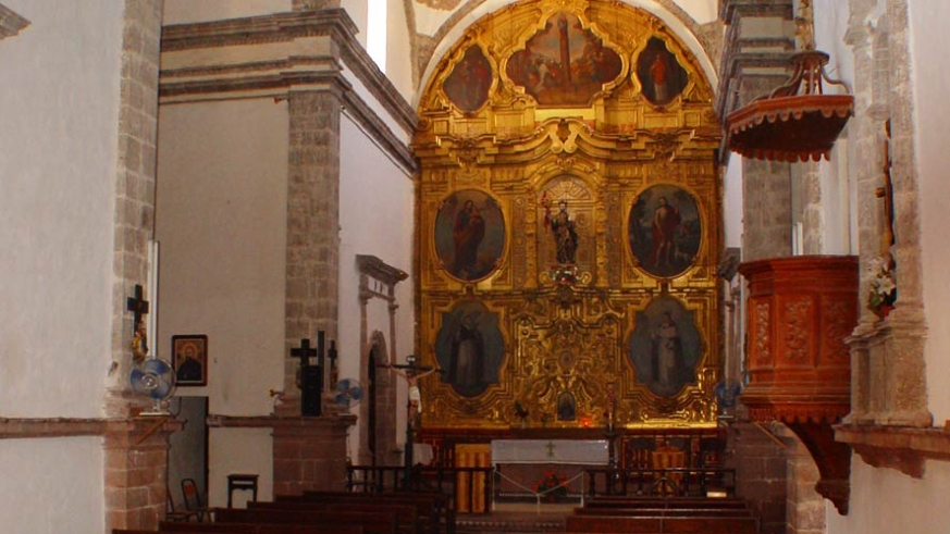 Interior of the cathedral at Mission San Ignacio