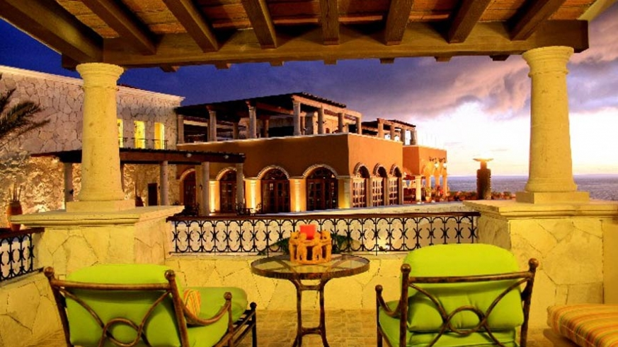 Your balcony at the Hacienda Encantada overlooking the Sea