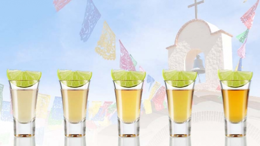 Various grades of Tequila