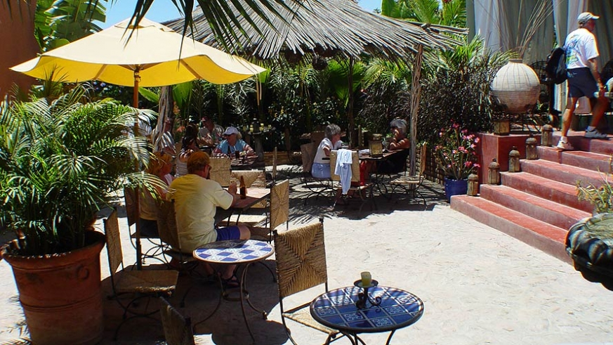 Outdoor dining in Todos Santos makes for a great daytrip from Cabo San Lucas or La Paz