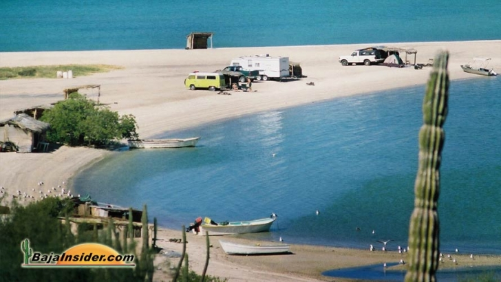 Beach camping still exists in a few places along the Sea of Cortez