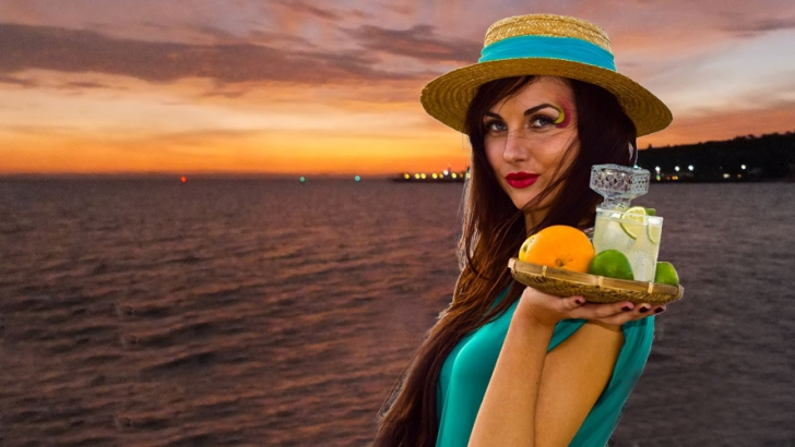 The special taste of a margarita with a CostaBaja sunset