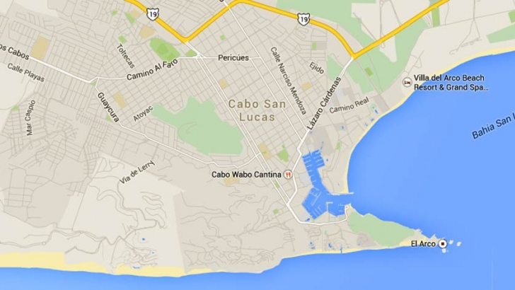 Cabos San Lucas Map on