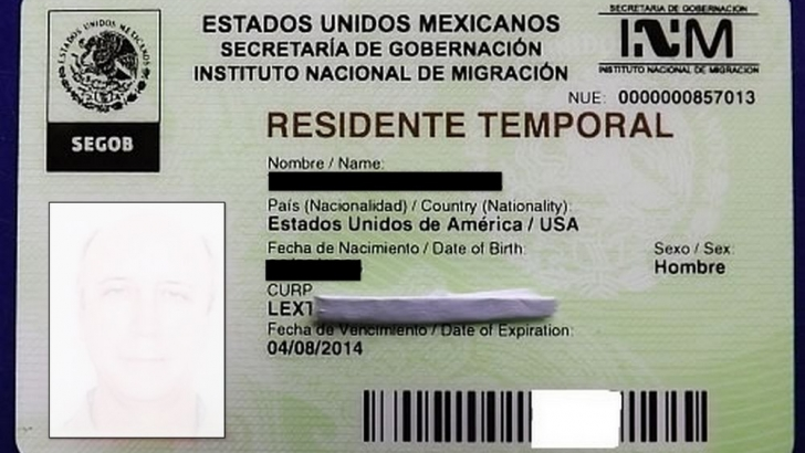 Mexican immigration temporary resident card