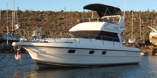 1992 Gulf Craft 38' This boat is in excellent condition, owned by the boatyard. It has twin Volvo Penta 6 cyl diesels.$76,000USD