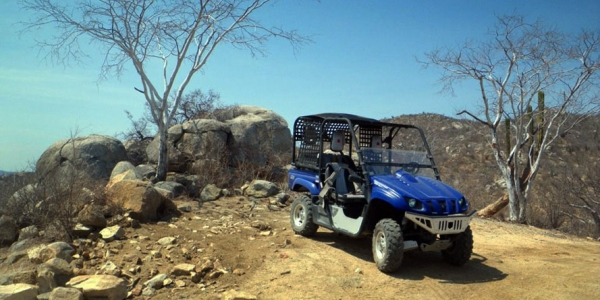 The Rhino, vehicle for exploring the Cabo Outback